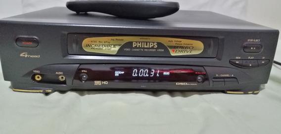 Video Cassete Philips Vr-556 4 Cabeças Com Controle Remoto