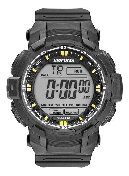 Relógio Mormaii Mo8121ab8y Preto - Cor: Preto/amarelo - Tama