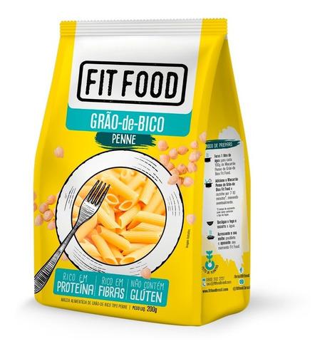 Imagem 1 de 2 de Macarrão Penne De Grão De Bico Fit Food 200g Sem Glúten