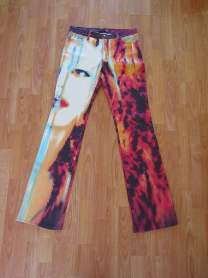Jeans De Diseñador Just Cavalli Original T/xl A La Cintura