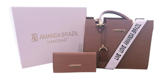 Bolsa Amanda Brazil Com Alça Lateral Live Love (lorena)