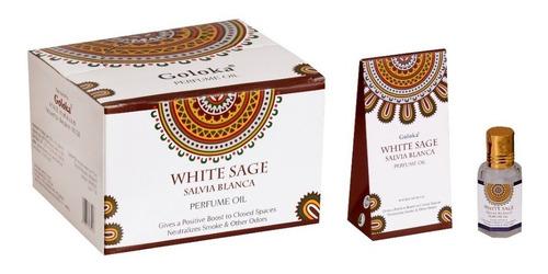 Imagem 1 de 1 de Óleo Perfumado Indiano Goloka Sálvia Branca 10ml Positivismo