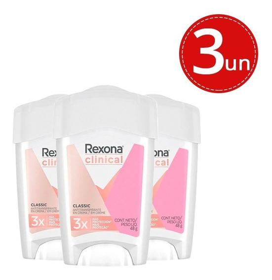 Desodorante Stick Rexona Clinical Creme Soft Women 45g - 3 Unidades