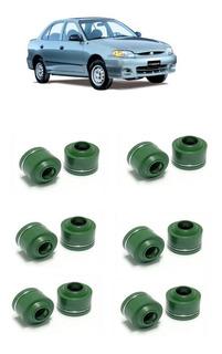 Jogo Retentor Valvula Hyundai Accent 1.5 12v 94 A 98 12 Pçs