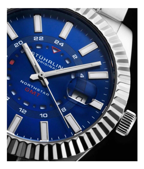 Relógio Sthurling Northstar 892 Gmt Quartz 42mm Classic