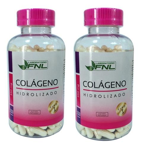 Colageno Hidrolizado 500 Capsulas, 2 Frascos Envio Gratis