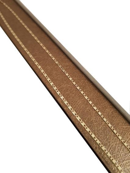Cordão Em Ouro 18k Piastrine 1mm 45cm 1,7g