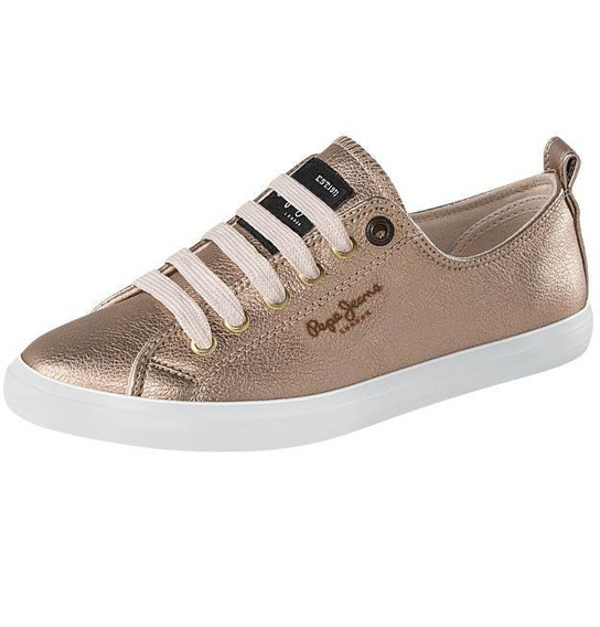 Tenis Mujer Marca Pepe Jeans Mod 00 Arr Oro