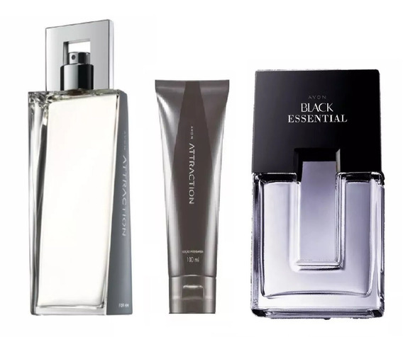 Combo Perfumes Masculinos Avon: Attraction + Black Essential