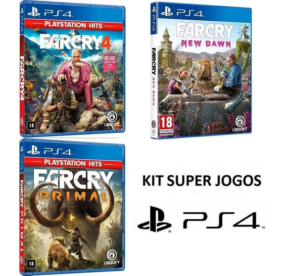 Farcry 4 + Primal + New Dawn - Midia Fisica Lacrado - Ps4