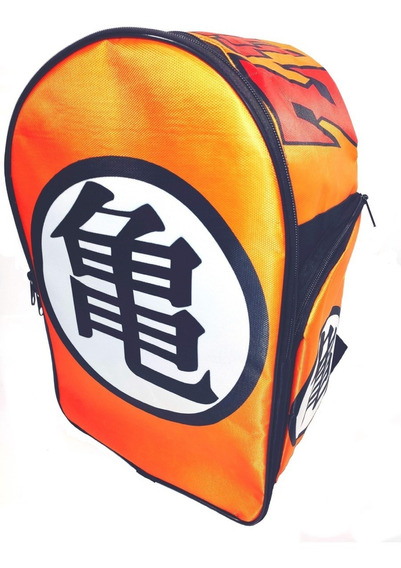 Dragon Ball Z Mochila Backpack Kanji Roshi Goku Tortuga
