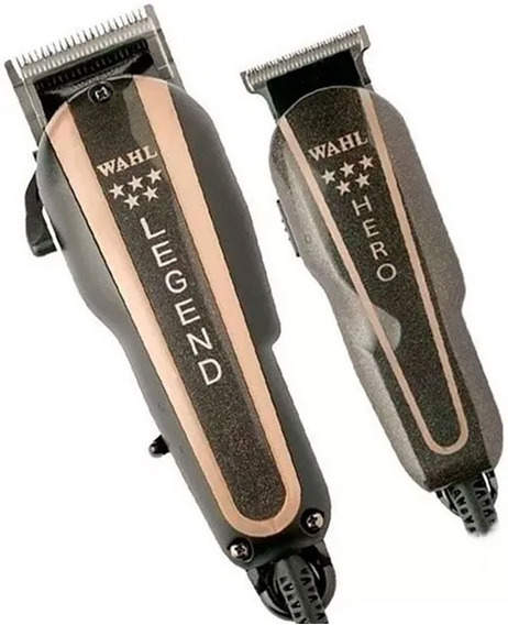 Remate Máquina Wahl Barber Combo Legend Y Trimmer Hero 19pz