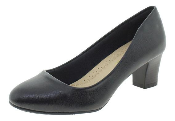 Sapato Feminino Salto Médio Facinelli - 62401 Preto