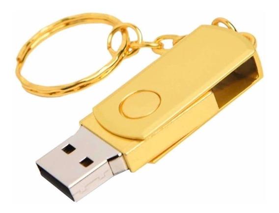 Pendrive 128 Gb Memória Dourado!