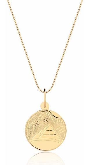 Corrente E Pingente Escrava Egípcia Em Ouro 18k P34