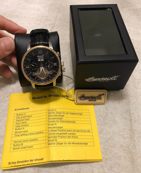 Relógio Ingersoll Grand Canyon Iv In6900 Rbk - Automático