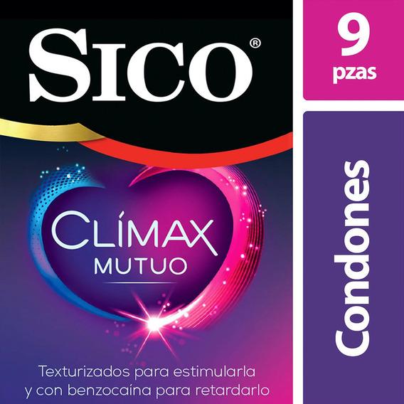 Sico Clímax Mutuo, Cartera Con 9 Condones Con Benzocaína