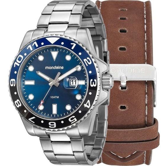 Relógio Mondaine Masculino Troca Pulseiras 99221g0mvna1