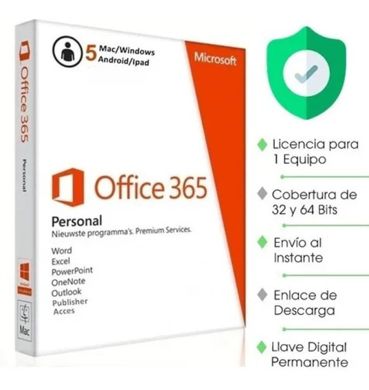 Office 365 Licencia Original 5 Pc, Macs O Tablets