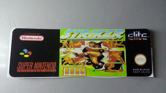 Label Striker Famicom Snes Super Nintendo Japonesa