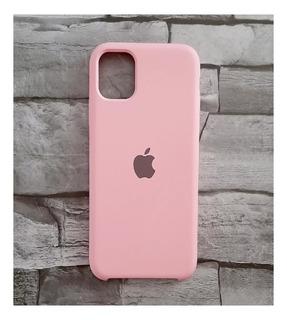 Capa Capinha Silicone iPhone 11 Pro Max Rosa Chiclete