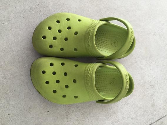 284. Crocs Verdes Importadas Talle 31 Verano Nene