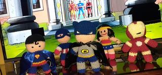 Muñecos Amigurumis Súper Héroes