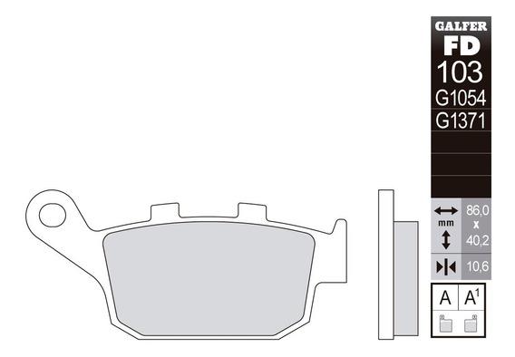 Pastilla De Freno Galfer Semi-metalica Transalp Versys
