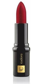 Batom Eudora Lip Deluxe Pigmento Absoluto Vermelho Verniz