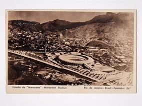 Cartao Postal Estadio Maracana E Arredores Anos 50