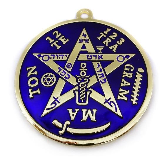 Tetragramaton Pentagrama De Parede Dourado 10cm