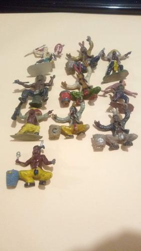 Lote De 10 Soldadito Indios Antiguos De La Década Del 60  L3
