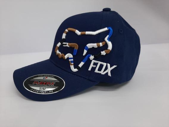 Gorra Fox Azul Con Logo Colores