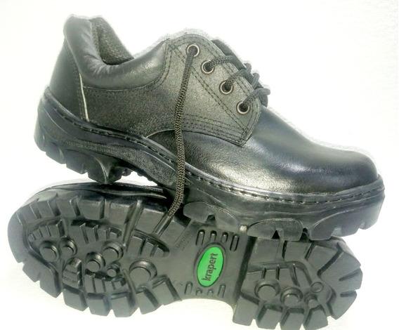 Art 100 Ne,zapato Clásico Trabajo Cuero Suela Caucho Krapert
