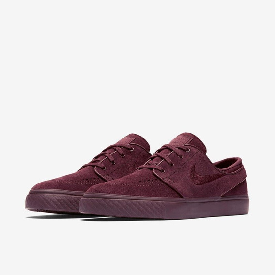 Tênis Nike Sb Zoom Stefan Janoski Burgundy Crush Bordô