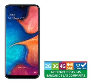 Smartphone Samsung A20 Azul Liberado