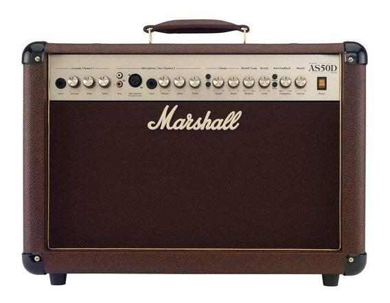 Marshall As50d Amplificador Acustica Teclado As 50 Microfono