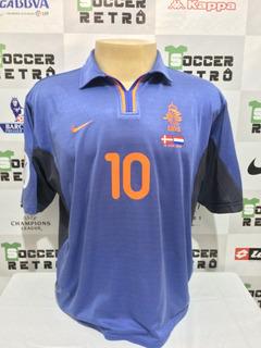 Camisa Holanda Euro 2000 Away Bergkamp 10