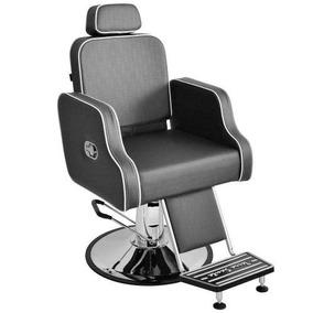Cadeira Hidráulica Barbeiro Reclínavel Greco = Mnn