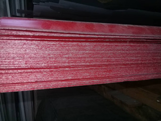 Lámina Galvanizada Roja Blanca De 6 Metros.