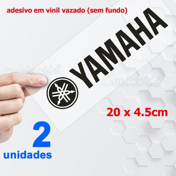 Kit 2 Adesivos Yamaha Para Moto Balança Bengala 20cm Trilha