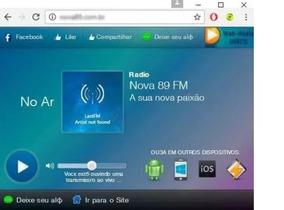 Código Fonte Janela Player Para Web Rádio Script