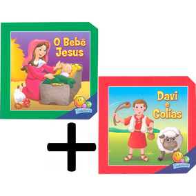 Aventuras Bíblicas Bebê Jesus Davi Golias 2 Vols. Cartonados
