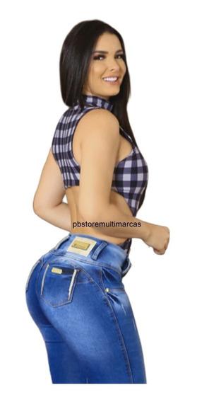 Calça Jeans Feminina Oxtreet Modela Bumbum Estilo Pitbull