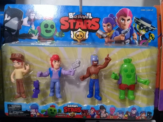 Articulo 250820 Brawl Stars X 4 Personajes En Blister