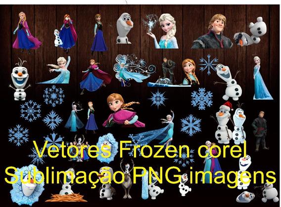 Vetores Frozen Corel Sublimação Png Imagens