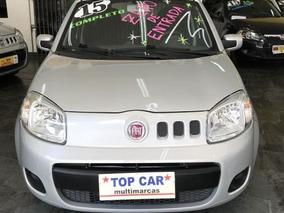 Fiat Uno Vivace 1.0 2015 Prata - Sem Entrada