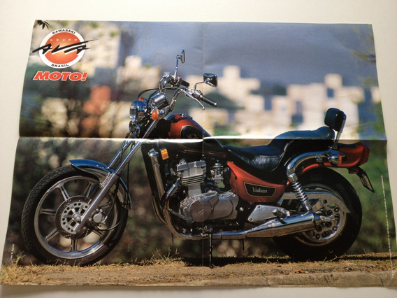 Revista Da Moto Pôster Kawasaki Ava Brasil Vulcan A532