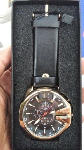 Relógio Curren Luxo Dourado