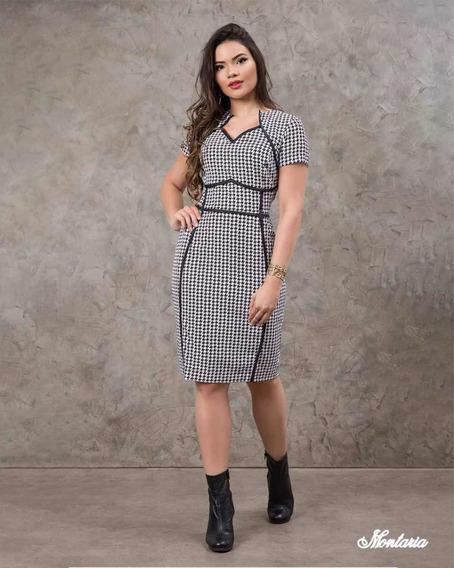 Vestido Tubinho Det. Viés - Montaria Fashion